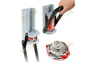 12oz Aluminum Wall Mount Recycling Can Crusher EZ Crush Bottle Opener