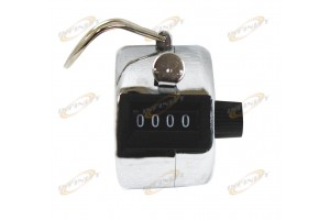Hand Number 4 Digit Display Number Chrome Counter or Golf Stroke Clicker