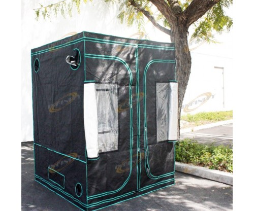 REFLECTIVE 4'x 4'x 6' HYDROPONIC INDOOR GROW ROOM TENT GREENHOUSE 100% Mylar