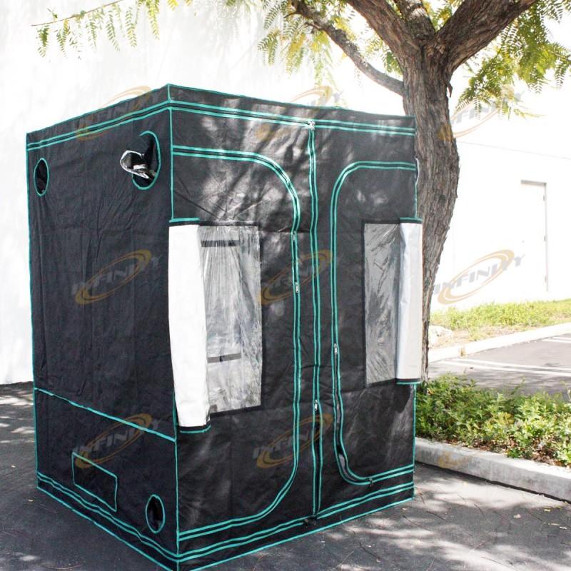 Reflective 4 39 x 4 39 x 6 39 hydroponic indoor grow room tent for Indoor gardening reflective material