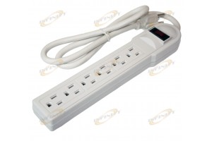 3FT 6 Outlet Power Strip Surge Protector AC125V 15A 60hz Plug AC Wall UL Listed