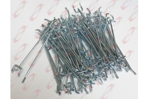 "100 Pc Heavy duty steel 1/8"" x 6'' Peg Board Hooks Shelf Hanger"