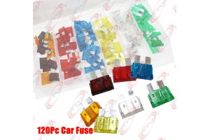 120PC Trucks SUV'S Auto Fuses Assorted Color Coded Car Fuse