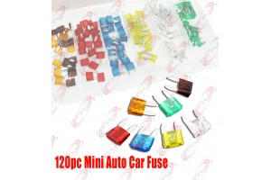 120PC Mini Trucks SUV'S Auto Fuses Assorted Color Coded Car Fuse