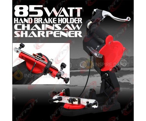 110v Electric Chainsaw Sharpener Grinder Bench Mount Saw w/ Hand Brake Wheel