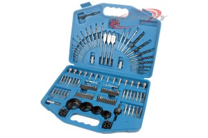 125pc Power Drill Bit & Driver Set Hole Saw Set Multi-Bit Sets Tool Kit Bits Set