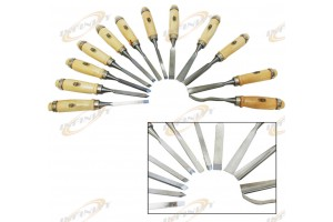 "12pc 8"" Wood Clay Wax Carving Chisel Set Kit For Small Carving Projects"