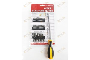 31PC FLEX BEND CABLE SHAFT SCREWDRIVER