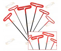 6pc SAE Long T-Handle Hex Key Wrench Set Soft-Grip
