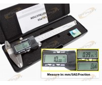 "6"" Digital Electronic Gauge Vernier Caliper 150mm Micrometer MM SAE FRACTION 3-1"