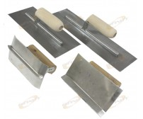 "4Pc Concrete 6"" Edging Hand Trowel Set Cement Masonry Finishing Hand Tools"