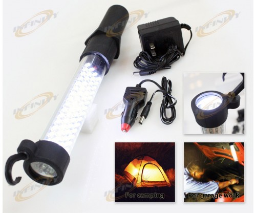 60 + 13000MCD 9 LED CORDLESS WORK FLASH LIGHT RECHARGABLE WORKLIGHT