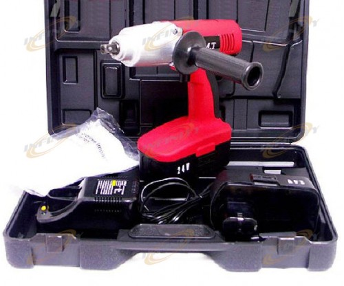 24V 300 Ft-LBS CORDLESS IMPACT WRENCH Gun w/ 2 Batteries & a Charger + Case