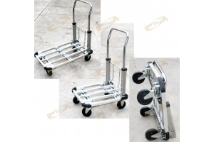 "220 LB ALUMINUM 28"" FLAT MOVING STURDY EXTENDIBLE COMPACT HAND CART TRUCK DOLLY"