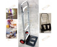 "43"" PORTABLE ALUMINUM FOLDING DOLLY MOVING HAND CART TRUCKS HOLDS 200LBS NEW"