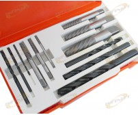 12 PC RIGID SCREW EXTRACTOR SET DRILL EASY OUT HAND TOOL