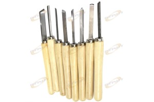 8pc Wood Lathe Chisel Set Skew Spear Point Round Nose Gouge Parting Tool
