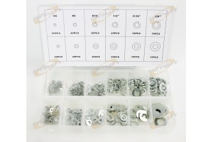 350-pc Stainless Steel Washer Assortment Steel Lock Washer Assorted Set