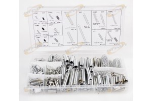 200pc Spring Shop Assortment Kit w/ Case Carb Carburetor Flat Hoop Dash