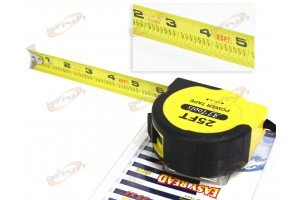 "SAE HD 25 ft x 1""TAPE MEASURING COMMERCIAL GRADE RULE MEASURER W/LOCK"