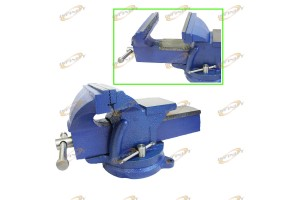 "6"" BENCH VISE CLAMP TABLETOP 90Degr SWIVEL LOCKING BASE"
