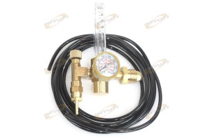 Argon CO2 Mig Tig Flow Meter Welding Weld Gas Regulator Gauge CGA580 w/ 12' Hose