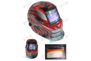 Welding Helmet Darkening Powerweld Black Art W/ Two Protective Film Prior Auto