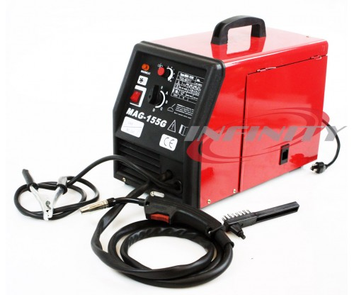 110v MAG 155G Flux Core Welder MIG-155 Gas/No Gas Welding 110v 140AMP