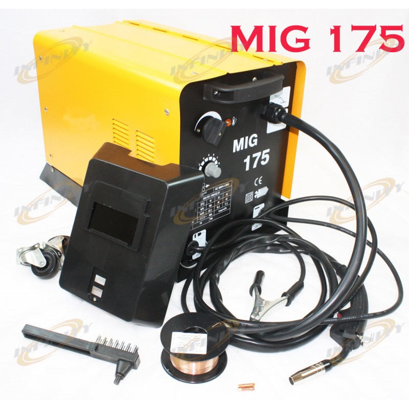 Mig 175 160amp 110v Mag Flux Core Welding Machine Gas