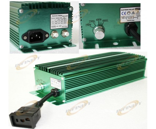 250W 400W Silent Hydroponic Electronic Digital Switchable Ballast Dual Voltage