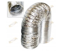 "Aluminum Air Ducting 6"" Inch x 25' 25ft Air Ventilation Exhaust Non-Insulated"