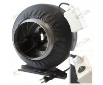 "6"" 2 SPEED CONTROL INLINE FAN DUCT TUBE EXHAUST BLOWER 440CFM"