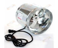 "8-inch 470 CFM Air Duct Inline Hydroponic 8"" Booster Fan 120v"