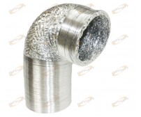 "Aluminum Air Ducting 8"" Inch x 25' Feet Air Ventilation Non-Insulated"