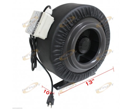 "8"" Inline 720CFM Hydroponics Duct Tube Exhaust Fan Blower 110V W/ Leather Sleeve"