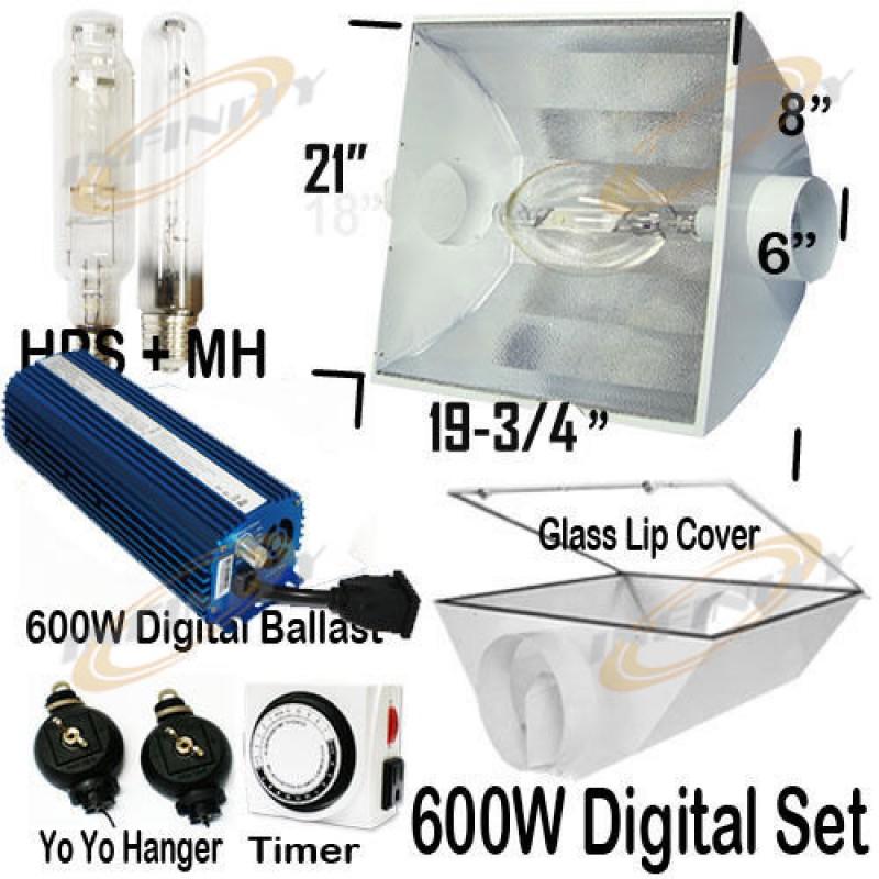 600w Digital Ballast Metal Air Cool Reflector Mh Hps