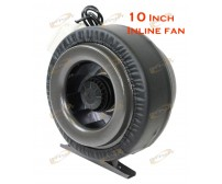 "10"" Inline 760CFM Hydroponics Duct Tube Exhaust Fan Blower 110V W/Leather Sleeve"