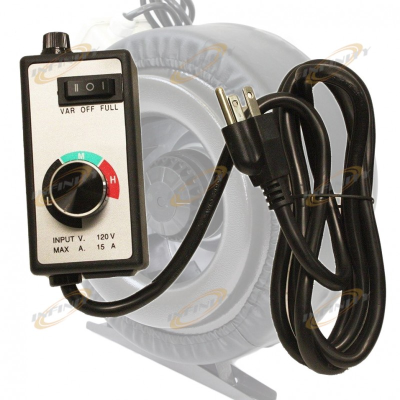 Blower Speed Controller : Variable fan speed controller hydroponic inline vortex