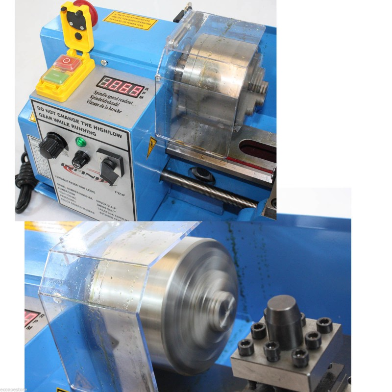 7 x 14 mini metal lathe infinite variable speed spindle for Small variable speed ac electric motors