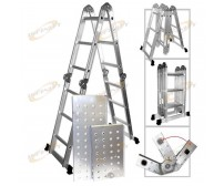 Multi Purpose Aluminum Folding Step Ladder 12.5FT Foldable scaffolding Ladders