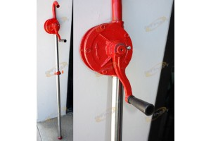 HEAVY DUTY ROTARY 55 GALLONS SELF PRIMING GAS OIL FUEL HAND PUMP