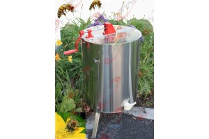 "4 or 8 Frame Manual Honey Extractor 204 Stainless Steel 24"" Drum Tank"