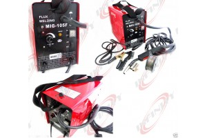 MIG 105 FLUX CORE WIRE MIG WELDING MACHINE 90AMP NO GAS WELDER w/Cooling Fans