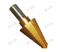 "12 Steps 7/16""~1-1/8"" Titanium Nitride Coated Step Drill Bit 1/2"" Shank"