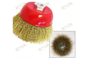 "4-2/1"" THREADED CUP WIRE WHEEL BRUSH FOR 5/8"" SHAFT"