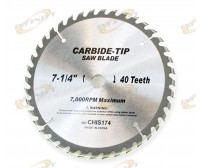"7-1/4"" 24 Teeth Resharpenable Tooth Carbide Tipped Saw Blades Maxi 7000RPM"