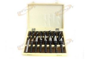 8 PCS JUMBO SIZE WOOD DRILL BITS SET WITH WOODEN CASE
