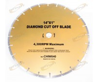 "14"" Diamond Cut Off Blade 4 Concrete Brick Stone Slate Multi Purpose Masonry"