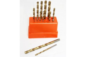 "1/16"" to 1/4 ""Hex Shank Titanium 13 Pc HSS High Speed Steel Drill Bit Set"