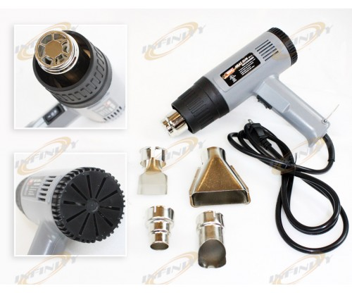 1500 Watt Dual Temperature Heat Gun w/ Accessories Shrink Wrapping Remove Paint